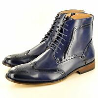 Men's Italian Style Leather Lined Chelsea Ankle Chukka Brogue Boots UK Size 7-12