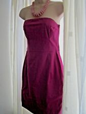 Ladies 12 H&M cerise pink beautiful party sleeveless dress