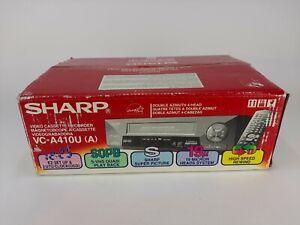 Sharp VC-A410U VCR Player 4 Head HiFi VHS Video Cassette Recorder w/ Remote