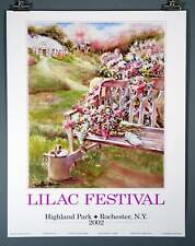 Lilac Festival Poster 2002 Rochester NY Highland Park!!