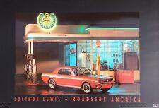 3 x 2 Ft Route 66 High Gloss Poster from Lucinda Lewis Red Mustang