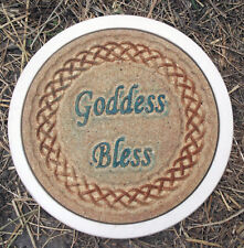 Goddess bless gothic wicca stepping stone concrete mold plaster mould