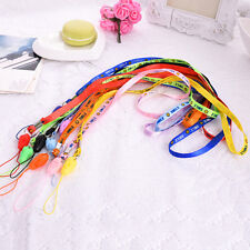 10 PCS Nylon Neck Strap Lanyard Keychain Card Key Phone Holder Fad TFSW