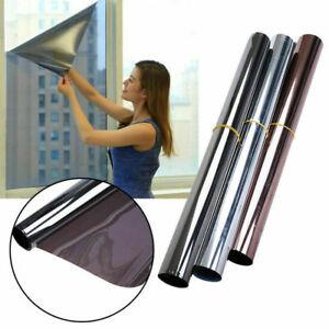 Glass Self Adhesive Film DIY Reflective Mirror Window UV Sun Protection Spy Foil