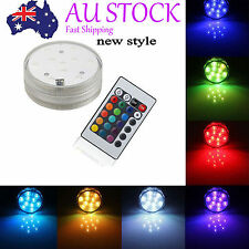 10LED Submersible RGB Wedding Party Xmas Decor Base Light with Remote Control #3