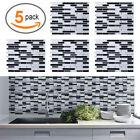 5pack Diy Mosaic 3d Self Adhesive Wall Tile Sticker Bathroom Kitchen Home Decor