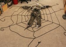 F-Halloween Giant Spider Web With Dead Man, Over 6 Feet in Diameter