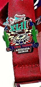NFL Super Bowl XLII 42 I Was There Arizona 2/3/2008 Cactus Logo Pin And Lanyard