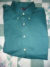NEW men's  18-18 1/2 by 34-35  XXL Dark Green  Ralph Lauren  Chaps  Shirt