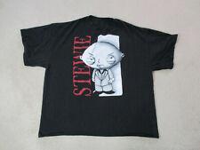 Family Guy Shirt Adult 2XL XXL Black Red Stewie Scarface TV Show Movie Mens