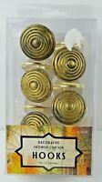 Medallion Set Of 12 Shower Curtain Hooks Color Antique Gold