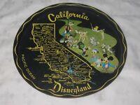 "Vintage 60s DISNEYLAND California 11"" Souvenir Lithographed Tinplate Drinks Tray"