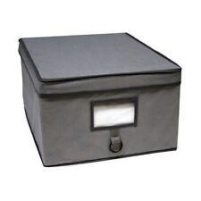 Aufbewahrungsbox Wäschebox Kleiderbox Box Kiste Truhe Stoffbox Tekno Grau Large