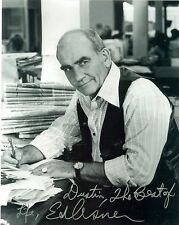 Ed Asner autographed 8x10 photo signed Lou Grant on the Mary Tyler Moore Show
