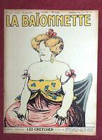 La Baïonnette n°29. 20 janvier 1916. Les Gretchen...Texte de CAMI