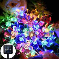 Christmas LED Sakura Flower Solar Fairy String Lights Outdoor Garden Decor 7M