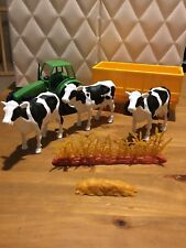 NEW RAY FARM COWS, Tractor And Trailer