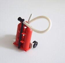 PLAYMOBIL (G1106) POMPIERS - Extincteur Double sur Chariot Vintage 3491 3525