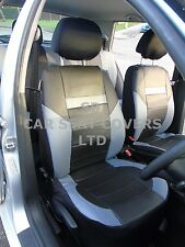 i - TO FIT A NISSAN NP300 NAVARA CAR, SEAT COVERS, PRESTIGE, BLACK/grey PVC