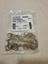 """1/2"""" (.500) External Snap Ring, Retaining Ring, Yellow Zinc Plated, NEW"""