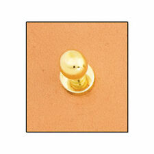 """Brass Plated Button Stud 3/8"""" (10 mm) 11311-01 by Tandy Leather"""