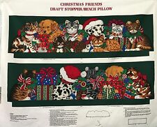 "Cotton Quilt Fabric Christmas Friends Draft Stopper/Bench Pillow 35"" x 44"""