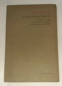 Poesie con testo a fronte di Jimenez Juan Ramon - Guanda, 1946 prima edizione