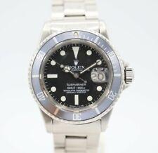 Rolex Vintage 1680 Submariner Black Stainless Steel 40 mm Automatic Wrist Watch