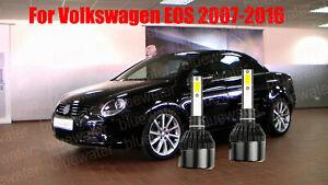 LED For VW EOS 2007-2016 Headlight Kit H7 6000K White CREE Bulbs Low Beam