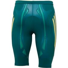 ADIDAS TECHFIT POWERWEB GREEN AND GOLD S.AFRICA AUSTRALIA SPRINT SHORTS RRP £50