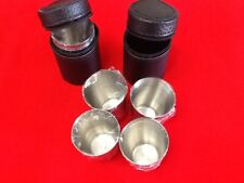 8 Stainless Steel Shot Glass 1oz + 2 Case Travel Glasses Cases Camping Shots