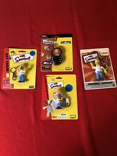 New ListingSimpsons Homer Simpson lot of four diff vintage figural Key Chains Mint on Card