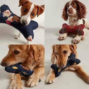 Joules Plush Dog Bone Soft Toy - Choose Navy Floral / Coastal / Heritage Tweed
