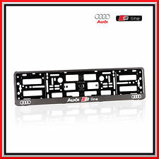 2 x License Number Plate Holder Surround for Audi S-Line - Carbon Effect