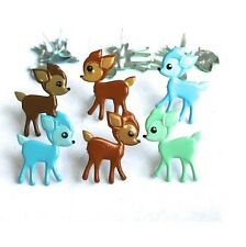 Brads - Cute fawn deer girl baby - pk of 4 - scrapbooking