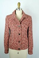 Luciano Barbera Women's Pink Boucle Blazer Jacket Made in Italy Size 42 US 8