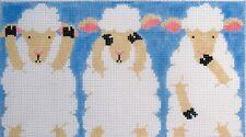 Three Sheep Hand Painted Needlepoint Canvas