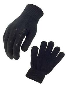 NEW CYCLING BICYCLE RUNNING COTTON THERMAL CYCLE GLOVES BLACK ONE SIZE