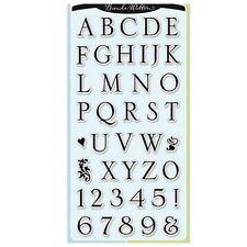 INKADINKADO clear cling stamps SOMERSET ALPHABET for Card making & stamping etc