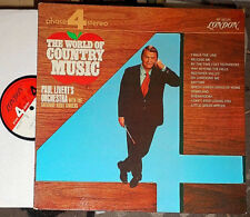 PAUL LIVERT 'S ORCHESTRA & SATURDAY NIGHT SINGERS THE WORLD OF COUNTRY MUSIC LP