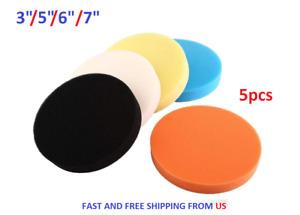 "3/5/6/7"" Polishing Waxing Buffing Sponge Pads Kit Compound Car Polisher 5Pcs USA"