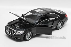 Mercedes-Benz S-Class Black, Welly 24051, scale 1:24, model adult boy gift