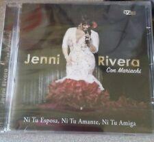 Jenni Rivera Ni tu Amiga, Ni tu Amante Ni tu Esposa CD Con Mariachi NEW NUEVO