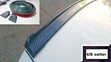 "1x Universal Glossy Carbon Fiber Trunk Spoiler Wing 55"" Rear Roof Tail Lip 3D #1"