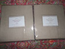 "2 POTTERY BARN BELGIAN FLAX LINEN SHEER DRAPES, 84"", COLOR FLAX, NEW"