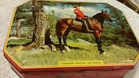 vintage Rileys Toffee tin Canadian Mountie Patrol Police on Horse
