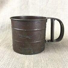Vintage Mechanical Flour Sieve Sifter Shaker Tool Cup Leifheit Kitchenalia Vtg