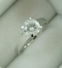 1.12 ct solitaire real diamond wedding engagement ring 18k white gold ring