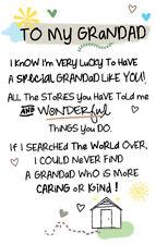 To My Grandad Inspired Words Keepsake Credit Card & Envelope