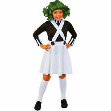 Girls Factory Worker Oompa Loompa Fancy Dress Costume S M L XL Chocolate